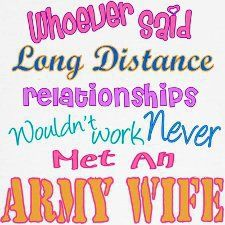 Army Wife & Long Distance Relationships