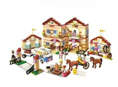 64.99$  Watch now - http://aliupe.worldwells.pw/go.php?t=32656376780 - New Bela serie 10170 amigos ninas tareas domesticas tiempo Panorama minifigures bloques de construccion juguetes compatibles con 64.99$