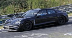 Porsche Mission E Prototype Hunkers Down On The Nordschleife