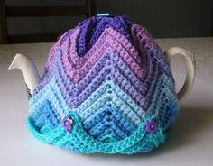 Justjen-knits: Justjen's Easy Ripple Tea Cosy
