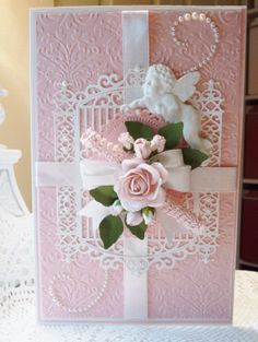 Dbl ended gate Birthday Cards For Mom, Handmade Birthday Cards, Greeting Cards Handmade, Birthday Wishes, Fancy Bows, Vintage Wedding Cards, Tattered Lace Cards, Shabby Chic Cards, Spellbinders Cards