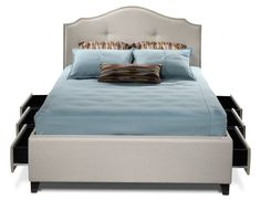Bedroom Furniture-Keaton Queen Storage Bed