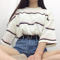 StyleShare Search: 데일리룩 in 2019 Cute Casual Outfits, Retro Outfits, Vintage Outfits, Girl Outfits, Fashion Outfits, Fashion Hacks, Hijab Fashion, Fashion Tips, Korean Fashion Trends