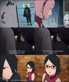 My husband, My wife, My child Uchiha Family: Sasuke, Sakura, Sarada ❤️❤️❤️