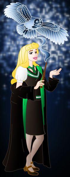 Disney Hogwarts students: Aurora by Willemijn1991.deviantart.com on @deviantART