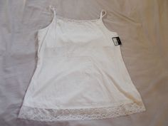 Willow Bay White Cami/Top Adjustable Straps XL NWT #WillowBay #TankCami