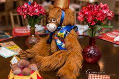 Centro de mesa - festa circo - animais hansa Toy