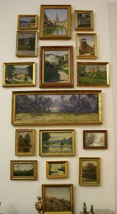 exceptionally curated and rare grouping of original French paintings collected over time...