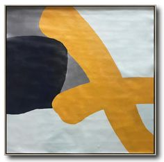 Minimalist painting on canvas large modern art, yellow, grey, navy, by CZ Art Design Modern Canvas Art, Large Canvas Art, Modern Art Paintings, Oversized Canvas Art, Minimalist Painting, Extra Large Wall Art, Illustrations, Texture Painting, Acrylic Painting Canvas