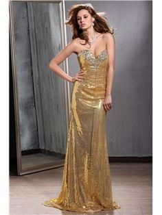 Attractive Floor-length Sweetheart Sequins Mermaid Veronika Evening/Party Dress