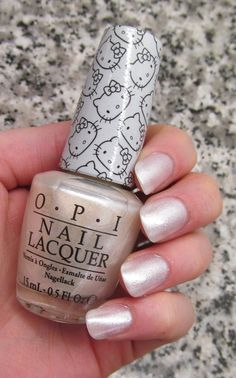 OPI Hello Kitty Collection - Kitty White  Click through for more swatches!