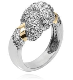 14k Gold & Sterling Silver ring with 1.07 diamond #VahanPinterest