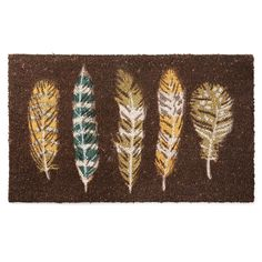 FLOATING FEATHERS DOORMAT | Welcome Mat, coconut fiber, feathers | UncommonGoods $25.00