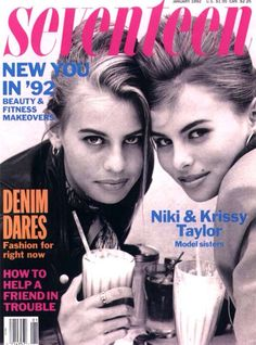 I used to think Krissy Taylor was so pretty- Seventeen Magazine (January Niki Taylor, Love The 90s, Back In The 90s, Seventeen Magazine, 1990s Nostalgia, Books For Teens, Teen Books, Shalom Harlow, Vintage Magazines