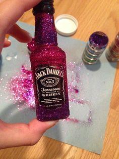 Glitter alcohol bottles!!!!!
