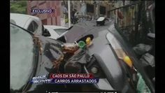 Galdino Saquarema 1ª Página:  Carros são arrastados por enchente na Vila Madalena