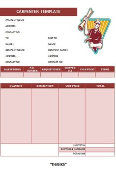 CARPENTER INVOICE TEMPLATE-7