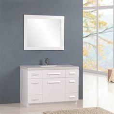 "Moscony 48"" Single Sink Vanity Set in White"
