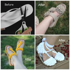 DIY - It's easier than you think These patterns show how you can transform flip flops in beautiful crocheted sandals to wear outdoors.