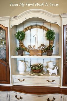I can mark another project off my list now. I finished the hutch I purchased a few weeks back.      Here is the before pic and honestly i...