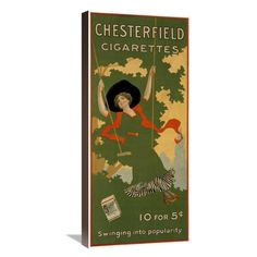Global Gallery Chesterfield Cigarettes Wall Art - GCS-296017-
