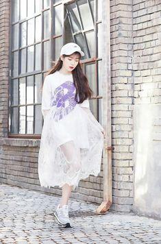 Korean Fashion – How to Dress up Korean Style – Designer Fashion Tips Iu Fashion, Korean Fashion, Fashion Dresses, Fashion Design, Global Brands, Korean Girl, Korean Style, New Balance, Kpop Girls