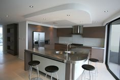 kitchen ceiling bulkheads - Google Search Conference Room, Ceiling, Google Search, Kitchen, Table, Furniture, Home Decor, Cuisine, Kitchens
