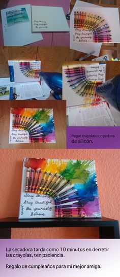 crayon art, arte en carola, draft, regalo, present, ideas, for my best friend, para mi mejor amiga.