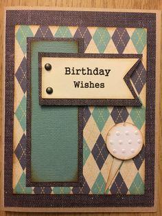 Birthday card - golf!