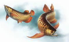 Carp Tattoo, Oscar Fish, Dragon Fish, Fish Drawings, Wooden Art, Fish Art, Freshwater Fish, Goldfish, Chinese Art
