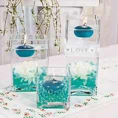 Floating Flowers And Candles Centerpieces