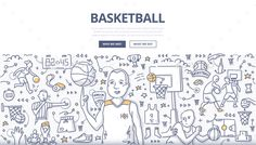 Doodle vector illustration of a basketball player spinning ball on his finger. Concept of playing basketball for web banners, hero images, printed materialsDownload includes:EPS 10 (100 resizable) JPG (high-resolution) AI (with live text)Fonts used: Open Sans Regular, Open Sans Bold. https://www.go