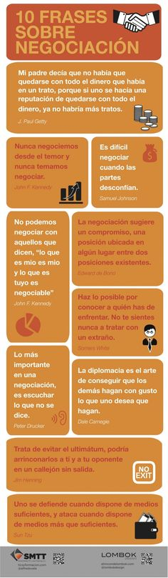 10 frases sobre negociacion #marketing #infografia #infographics