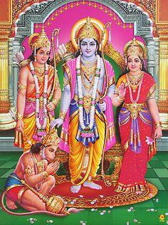 Ram Darbar - Hindu Posters (Reprint on Paper - Unframed) Baby Krishna, Krishna Radha, Lord Vishnu, Lord Ganesha, Ganesha Art, Hindus, Lord Rama Images, Duranta, Hanuman Wallpaper
