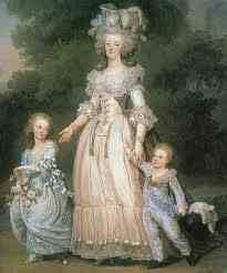 marie antionette with her children