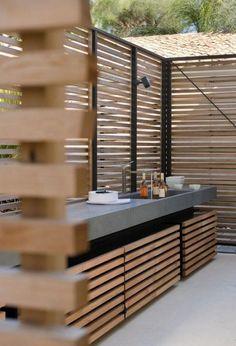 55 fantastische Outdoor-Küchen-Ideen mit kleinem Budget 55 fantastic outdoor kitchen ideas on a budget – – Backyard Kitchen, Summer Kitchen, Outdoor Kitchen Design, Outdoor Kitchens, Backyard Patio, Outdoor Spaces, Desert Backyard, Bbq Kitchen, Outdoor Kitchen Bars