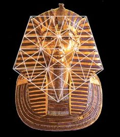 Phi / The Golden Proportion in Culture. The head piece of ancient Egypt's young pharoah Tutankhamun was created of solid gold to encase his mummy c. with pentagonal symmetry. an example of Sacred Geometry Ancient Aliens, Ancient Egypt, Ancient History, Divine Proportion, Mandala, Golden Ratio, Egyptian Art, Flower Of Life, Tantra