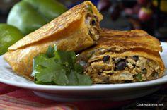 Crispy Southwestern Quinoa and Chick'n Burritos