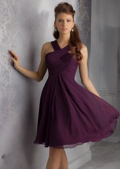 Maybe something like this for short dresses Purple Bridesmaid Dresses, Cadbury Purple, Lilac Bridesmaid Dresses Dark Purple Bridesmaid Dresses, Knee Length Bridesmaid Dresses, Wedding Bridesmaid Dresses, Homecoming Dresses, Dress Wedding, Royal Purple Dress, Royal Purple Wedding, Lilac Dress, Pageant Dresses