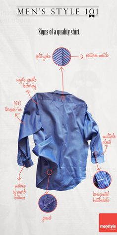 Men's style - What to look for in a new men's custom dress shirt.