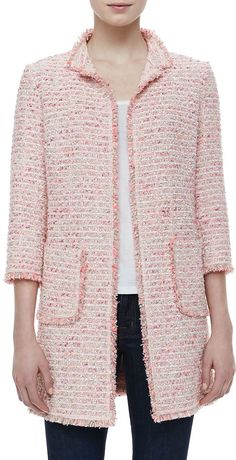 Pink Tweed Jacket by Neiman Marcus. Buy for $240 from Neiman Marcus