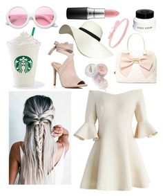 """Pearls of Pink"" by jessephillips ❤ liked on Polyvore featuring Chicwish, Kendall + Kylie, Betsey Johnson, Bobbi Brown Cosmetics, Pilot, Aamaya by Priyanka, ZeroUV and MAC Cosmetics"