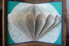 exploded library - her book folding work is amazing!