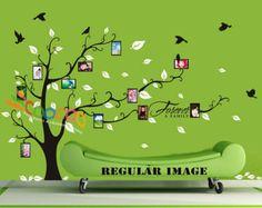 Foto marco pared Decal Sticker familia ramas por coocoodecal