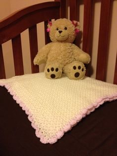crochet baby blanket-- just the idea of making a baby blanket. Pink camo