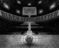 A rough, recent job for Bren MacDonald to commemorate the NBA players who demonstrated their support for the ongoing protests against racial inequality by refusing to play. I'm not usually motivated to make social statements with my art, but I was glad to get an incentive to leave a little mark of my own on this moment in history. Obsessive Thoughts, Nba Players, My Arts, In This Moment, History, Historia