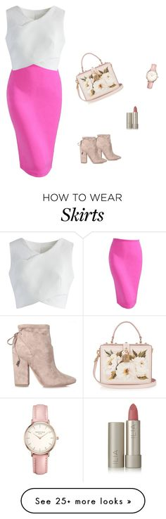 """""""Womens Wear to Work Pencil Skirt"""" by nanayau on Polyvore featuring Chicwish, Topshop, Dolce&Gabbana, Ilia and Kendall + Kylie"""
