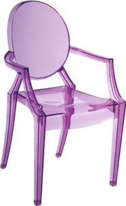 Purple Ghost Chair For Haileys Desk . Extras For Her Playroom?  PossiblyBentley Purple Arm Dining Chair By PANGEA/home On