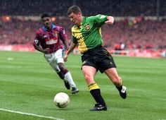 March 27 1994, Roy Keane in action for Manchester United in the League Cup Final against Aston Villa at Wembley.