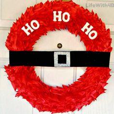 Santa Wreath Christmas Craft Tutorial